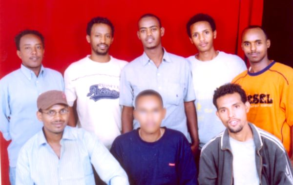 Emblem of a National tragedy, these Eritrean refugees graduated in September 2007 from the University of Asmara in Journalism and mass communications with B.A degree, within a range of one month all of them escaped to the Sudan. Photo taken in Khartoum in January, 2008.